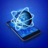 Mobiele telefoonstechnologie Stock Foto