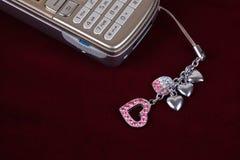 Mobiele telefoontoebehoren stock afbeeldingen