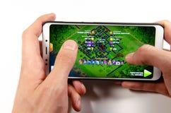 Mobiele toepassing en spelen royalty-vrije stock foto's