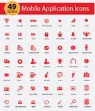 Mobiele Toepassing en Websitepictogrammen Royalty-vrije Stock Afbeelding