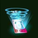 Mobiele toepassingsintegratie met SOA, ESB Stock Afbeelding