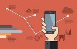 Mobiele toepassingsontwikkeling of smartphoneapp programmering Stock Foto's