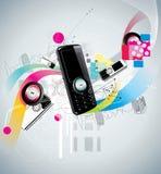 Mobiele vector abstracte illustratie Stock Afbeeldingen