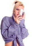 Mobiele vraag stock afbeelding