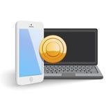 Mobiele Webbetaling Stock Foto