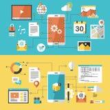 Mobiele website en app ontwerp stock illustratie