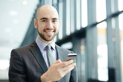 Mobiele zakenman Stock Afbeelding