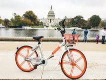 Mobike в DC Вашингтона Стоковые Изображения