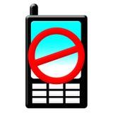 mobil отсутствие телефона иллюстрация штока
