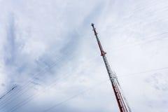 Mobil antenn Arkivbild
