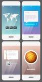 Mobil användargränssnittmall Arkivfoton