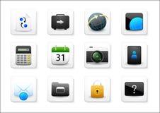 Mobil app-symbolsuppsättning royaltyfri illustrationer