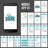 Mobil Apps UI för online-bankrörelsen design Royaltyfri Fotografi