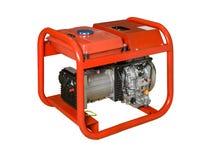 Mobil, bärbar diesel eller bensingenerator med ett element, med fjärrkontroll Arkivbilder