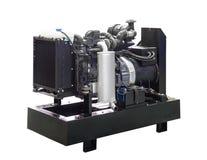 Mobil, bärbar diesel eller bensingenerator med ett element, med fjärrkontroll Arkivfoton