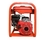 Mobil, bärbar diesel eller bensingenerator med ett element, med fjärrkontroll Arkivbild