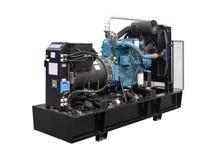 Mobil, bärbar diesel eller bensingenerator med ett element, med fjärrkontroll Royaltyfria Bilder
