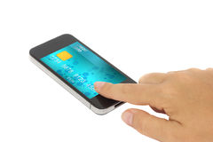Mobil bankrörelse arkivbilder