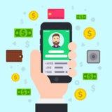 Mobil bankrörelse Arkivbild