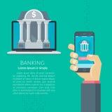 Mobil bankrörelse Royaltyfri Bild