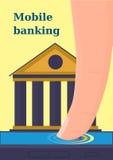 Mobil bankrörelsevektorillustration Royaltyfri Foto