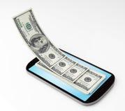 Mobil betalning Arkivfoto