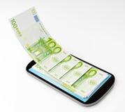 Mobil betalning Arkivbild