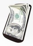Mobil betalning Fotografering för Bildbyråer