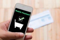 mobil betalning Royaltyfri Fotografi
