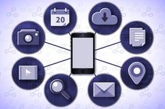 Mobil conectivity Vektor Illustrationer
