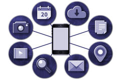 Mobil conectivityillustration stock illustrationer