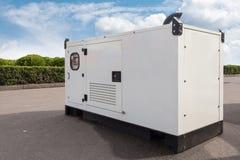 Mobil diesel- generator för nöd- elkraft arkivbilder