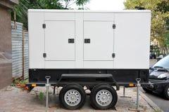Mobil electric generator. Royalty Free Stock Photos