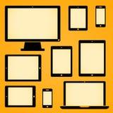 Mobil enhetsymboler Arkivfoton