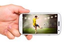 Mobil fotboll Arkivfoto