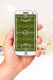 Mobil fotboll Fotografering för Bildbyråer