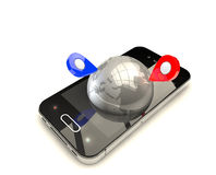 Mobil GPS-navigering Royaltyfria Foton