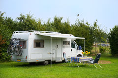 Mobil home camping Stock Photography