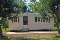 Mobil-home in a campsite Royalty Free Stock Photos