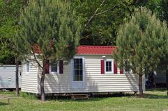 Mobil-home in a campsite Royalty Free Stock Photography
