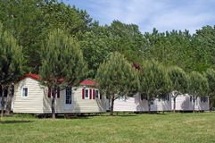 Mobil-home in a campsite Royalty Free Stock Image