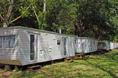 Mobil-home in a campsite Royalty Free Stock Images