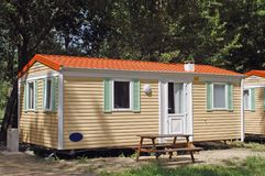 Mobil-home in a campsite Stock Images