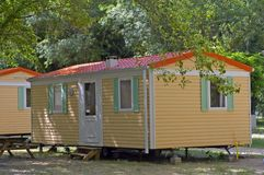 Mobil-home in a campsite Stock Image