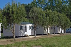 Mobil-home in a campsite Stock Photography