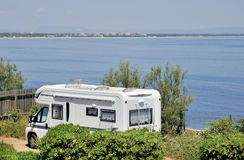 Mobil home at the seaside Stock Photography