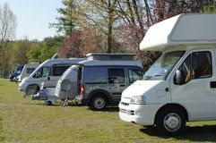 Mobil homes and caravans Stock Images