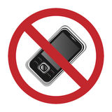 mobil inget telefontecken Royaltyfria Bilder