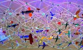 Mobil konstskärm i Dallas, Texas flygplats arkivfoton