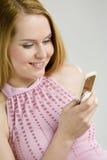 mobil kvinna Arkivfoton